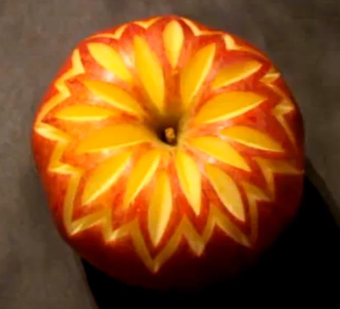 Украшение фруктового торта видео