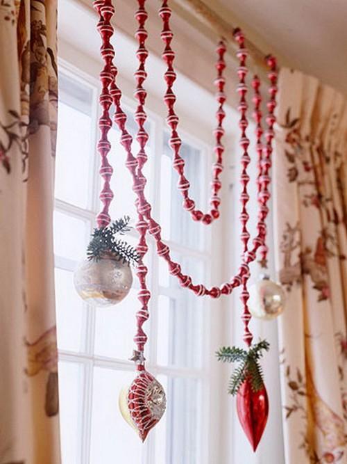 Украшения на окно на новый год своими руками фото