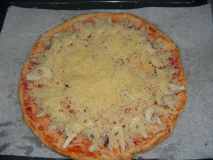 Пицца в домашних условиях в духовке с фото 800