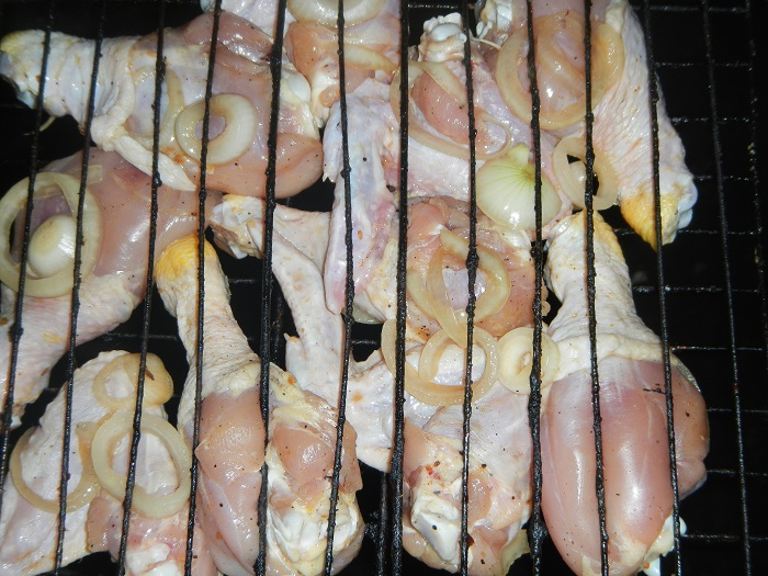 вкусная жареная курица с луком рецепт
