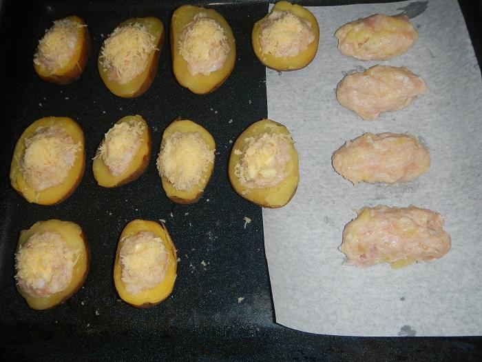 лодочки из картошки с фаршем в духовке рецепт
