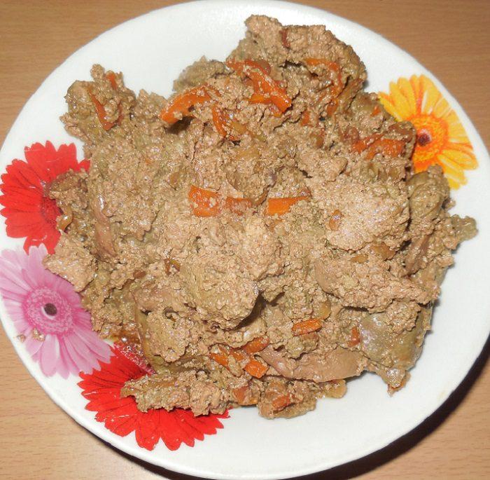 печень сметане луком фото рецепт