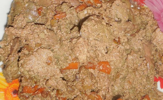 Куриная печень со сметаной и луком в мультиварке