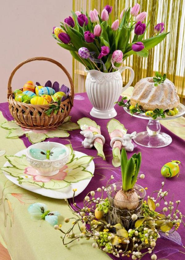 Красивый пасхальный стол