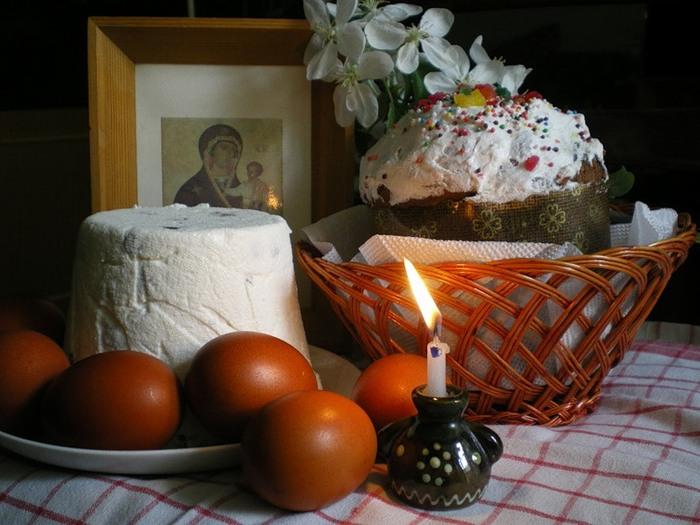 Пасхальный стол в славянской православной традиции