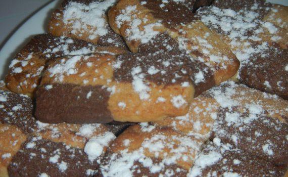 Французское печенье Сабле - вкусное двухцветное песочное печенье