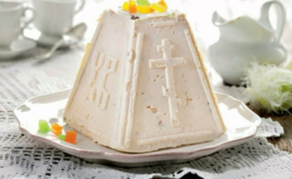 Традиционная вкусная творожная пасха с орехами без выпечки