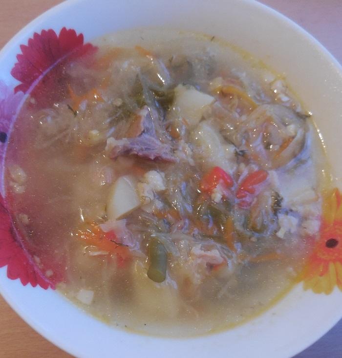 Кислые щи из квашеной капусты  кулинарный рецепт