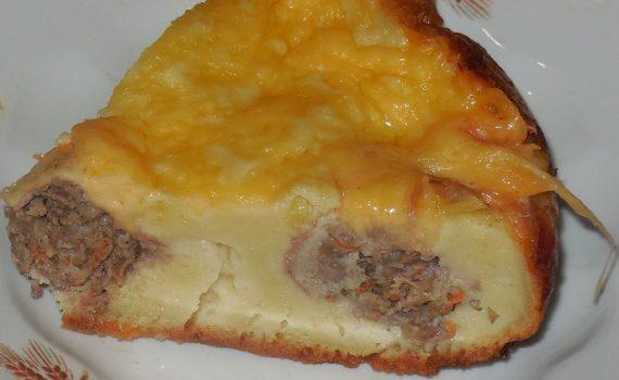 Заливной мясной пирог в мультиварке на скорую руку