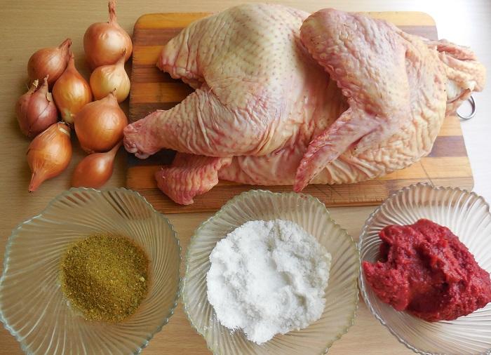 Барбекю из курицы на решетке