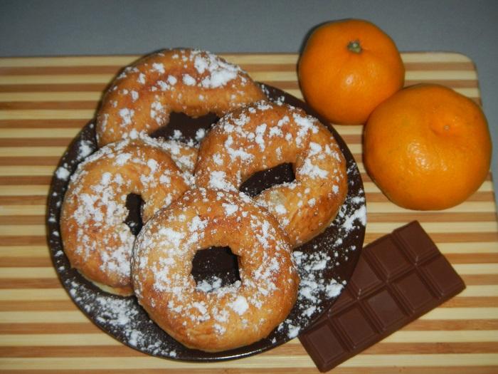 Мини-пончики из сырковой массы - рецепт пошаговый с фото