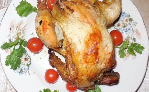 Дикий фазан маринованный в вине и запеченный в духовке