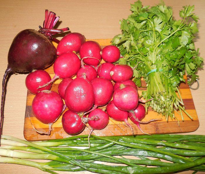 Маринованная редиска со свеклой и зеленым луком - вкусный салат из редиски