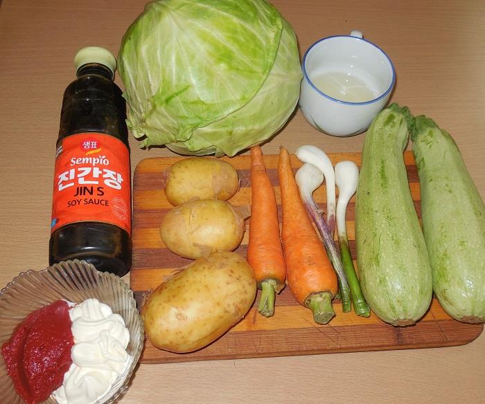 рагу из кабачков и капусты рецепты с фото