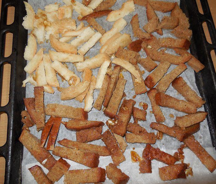 Сухарики в домашних условиях в духовке рецепт с фото 484