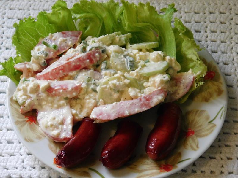 салат овощной рукола рецепт
