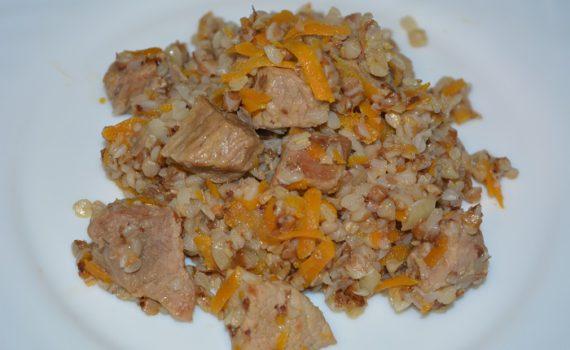 гречка с мясом на сковороде