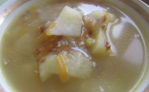 Гречневый суп на курином бульоне