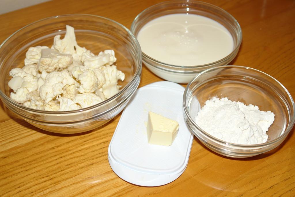 Цветная капуста запеченная в духовке под соусом бешамель
