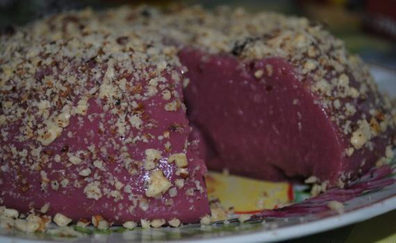 Простой десерт из орехов и виноградного сока - быстрая чурчхела домашняя