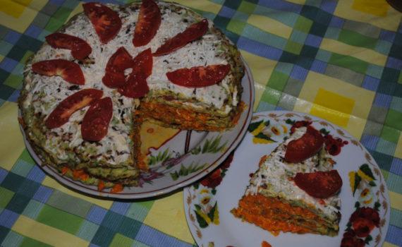кабачковый торт в разрезе