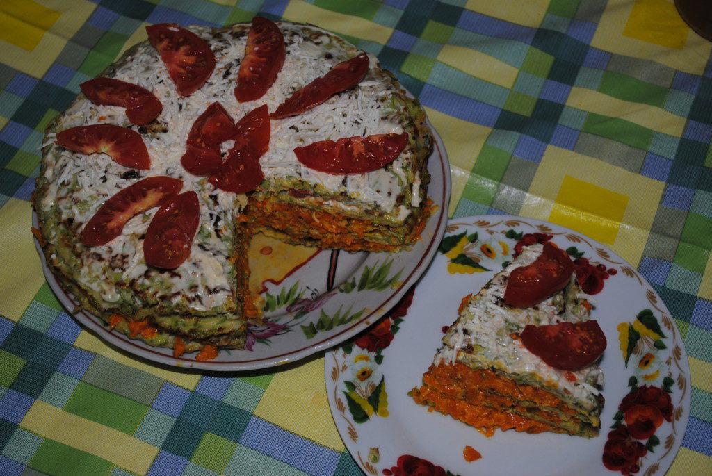 Рецепт кабачкового торта с морковью