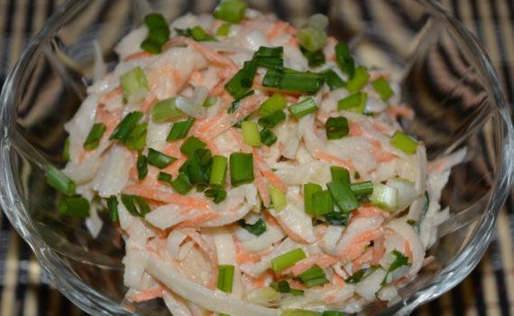 зимний салат без картошки