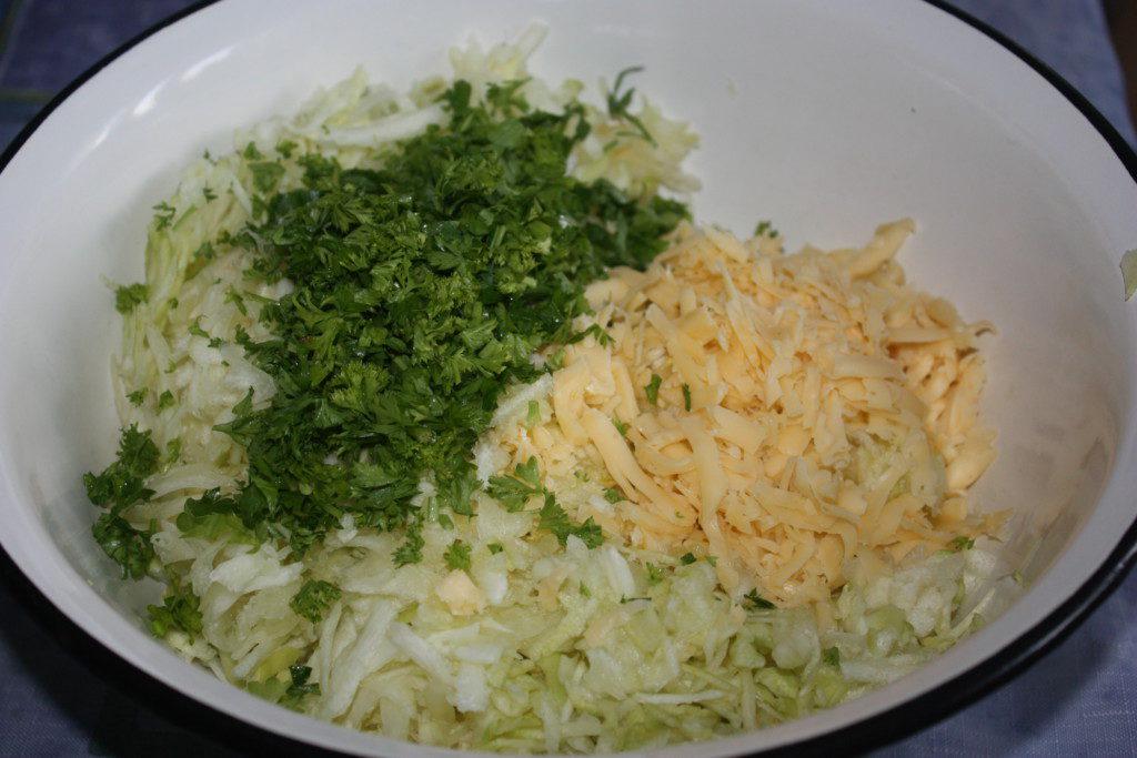 Овощи, сыр для террина