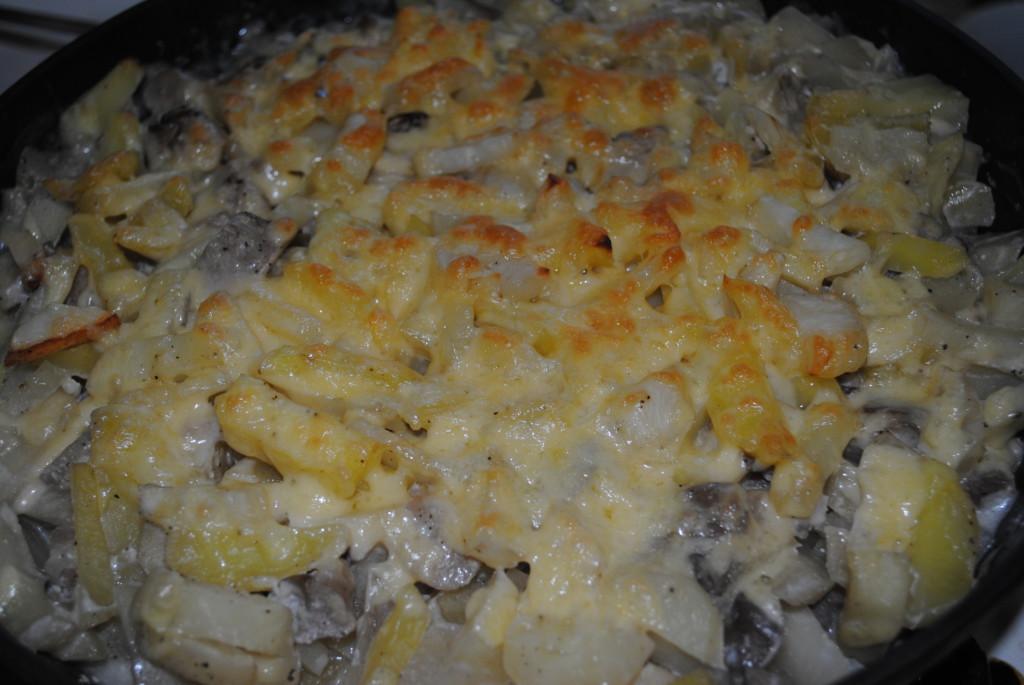 Запечь картошку с фаршем в духовке рецепт с фото пошаговый