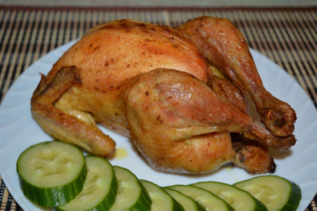 Фаршированная курица с хрустящей корочкой запеченная в духовке