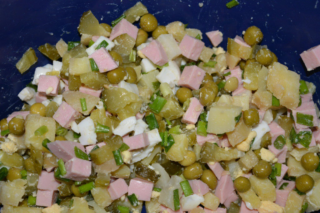 Пропорции салата оливье граммы