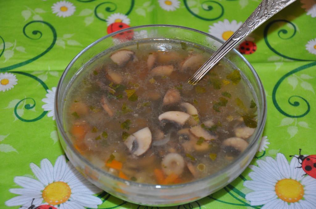 Грибной суп из шампиньонов