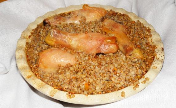 Гречка запеченная с курицей в духовке