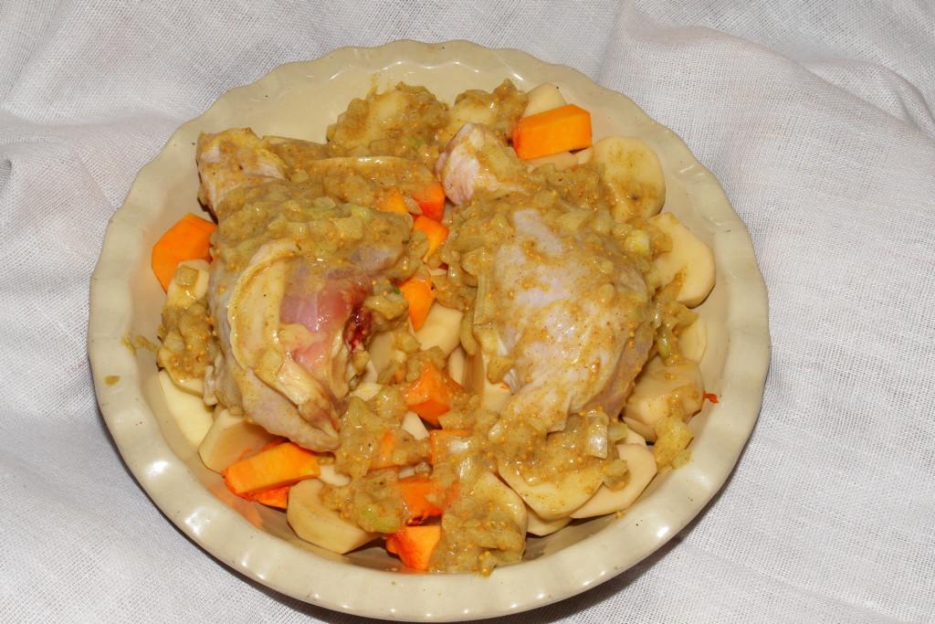 рецепт с филе курицы с овощами в духовке #7
