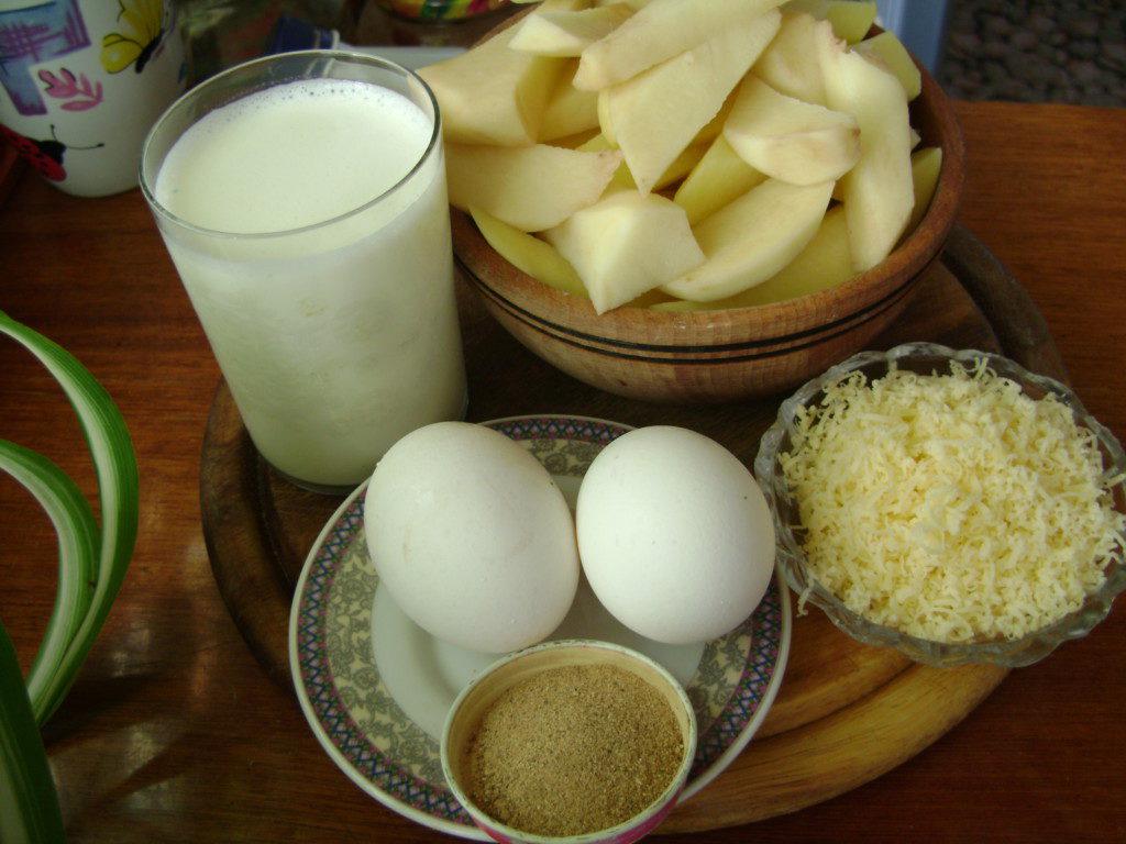 запеченный картофель в соусе в духовке рецепт