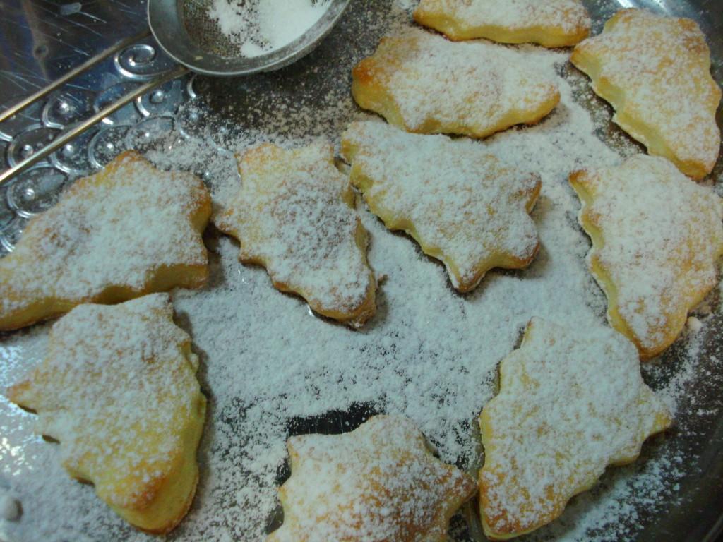 Новогоднее печенье из творожного теста