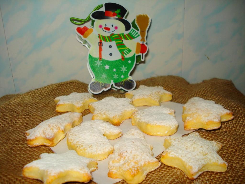 Фигурное домашнее творожное печенье