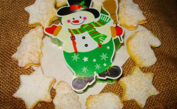 Новогоднее фигурное домашнее творожное печенье