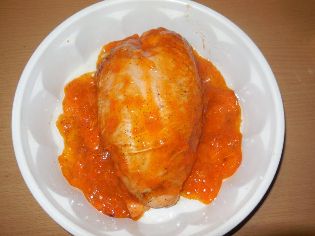 Куриные грудки запеченные в духовке в соусе из хурмы