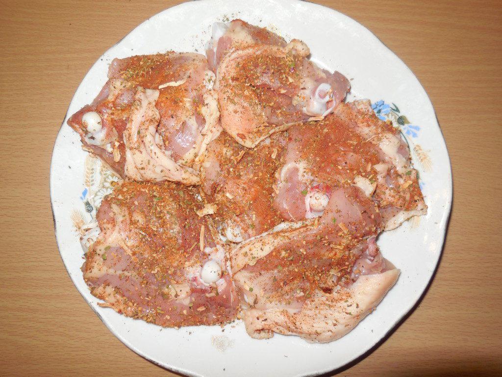 Бедра куриные в духовке с гречкой рецепт пошагово с