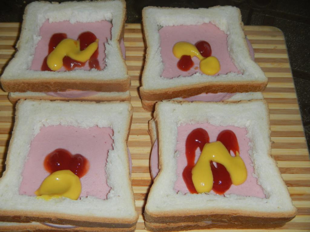Как сделать бутерброд с яйцами 771