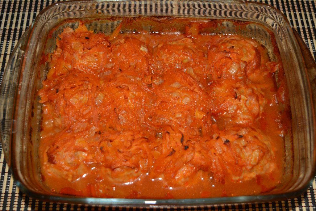 Куриные тефтели в духовке с подливкой пошаговый рецепт с фото