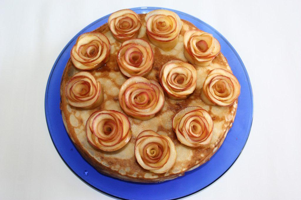 Как с яблок сделать розы
