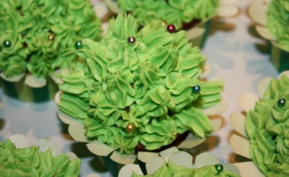 Ванильные кексы с кремом сверху