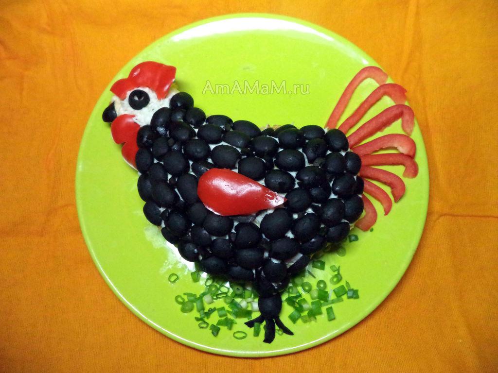 Новогодние рецепты салатов на год Петуха