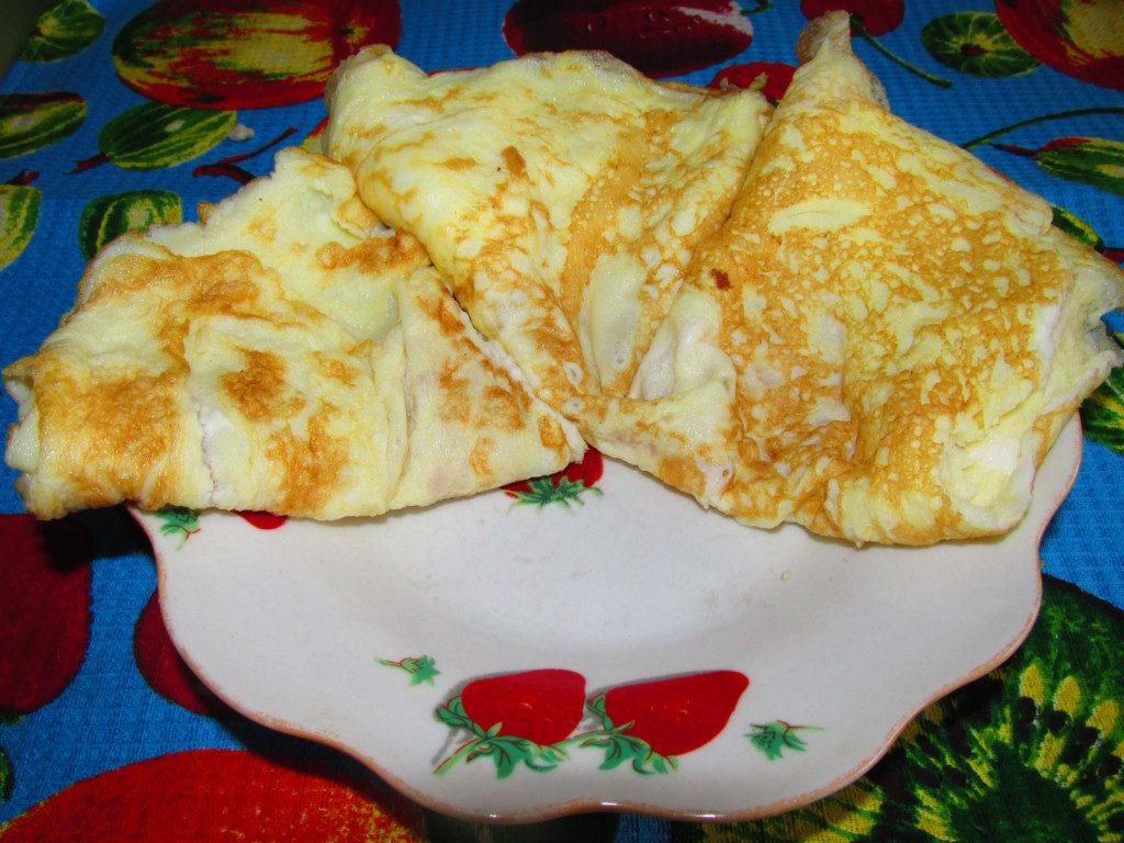 Рецепт яичных блинов