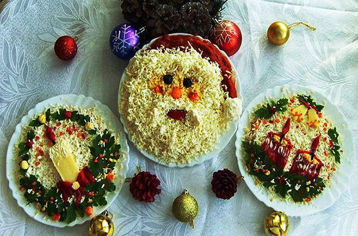 Новогодние рецепты салатов 2017