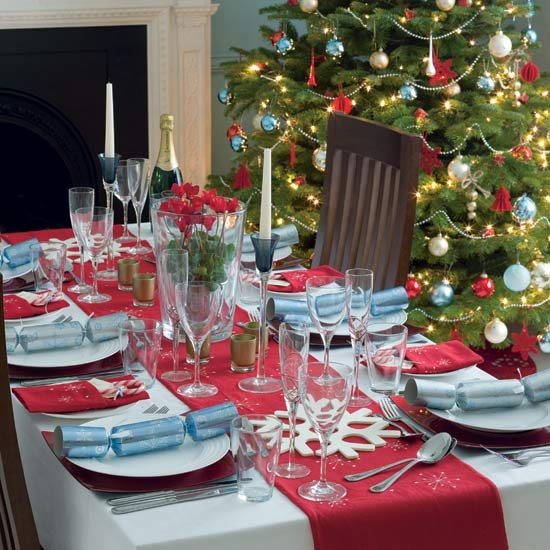 Decorated christmas table ideas