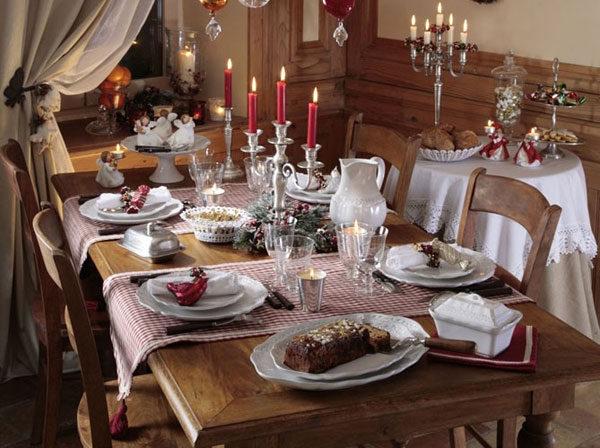 Сервировка стола на Новый год 2017