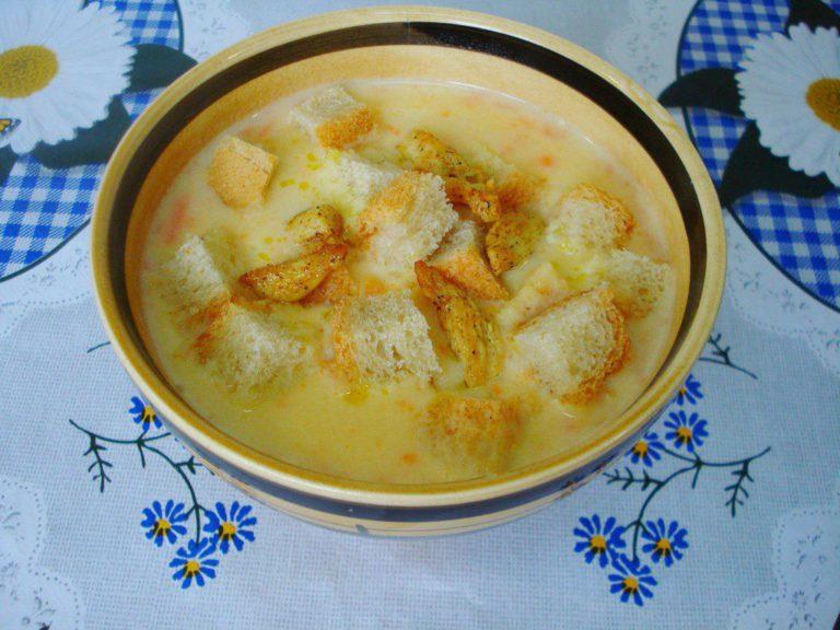 Суп с сухариками рецепт с фото